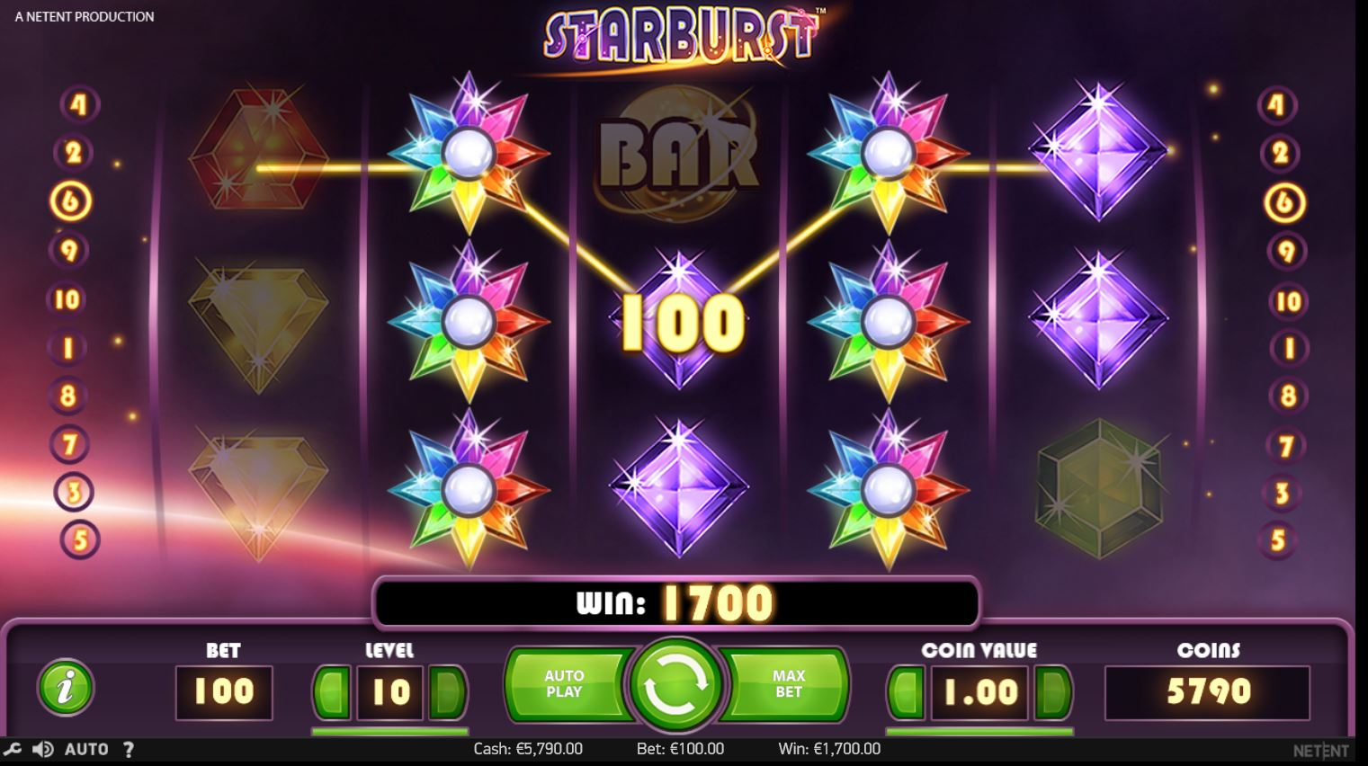 Starburst High roller slot