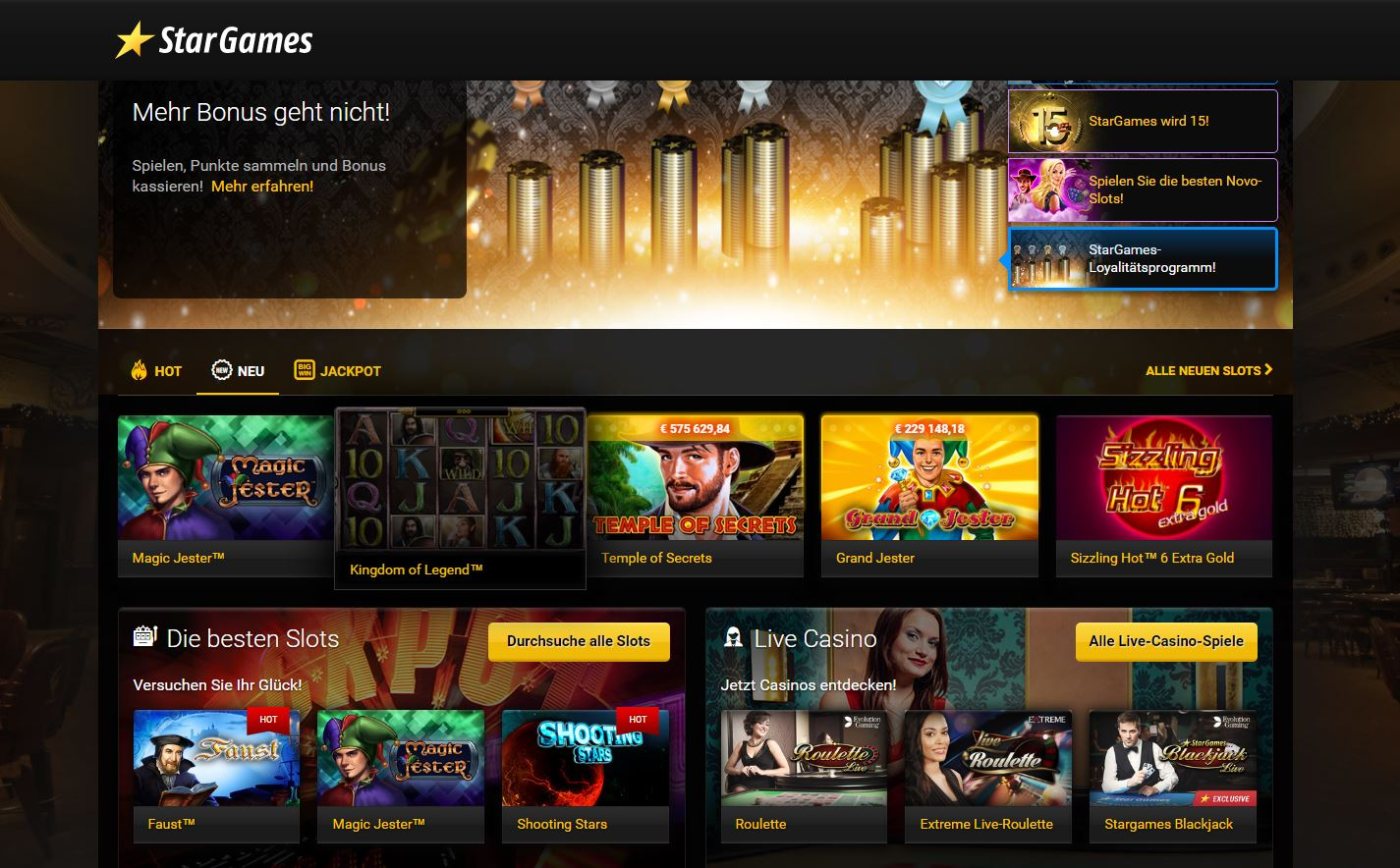 stargames online casino casino charm